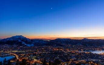 Bergen Sunset-Moonrise